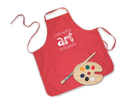 Image of Red Art Docent apron